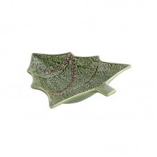 BOWL IN A SHAPE OF A CHRISTMAS TREE - 18,5 CM, GREEN