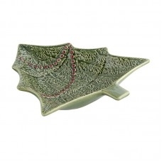 BOWL IN A SHAPE OF A CHRISTMAS TREE - 27,5 CM, GREEN