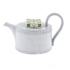TEA POT, WHITE