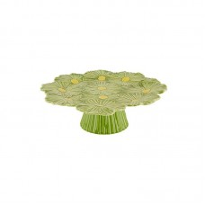 CAKE TRAY ON FOOT - COSMOS, GREEN