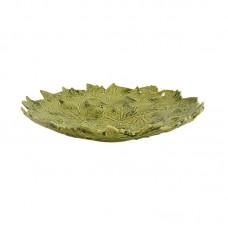 SERVING/DECORATIVE PLATE, PLATANUM LEAVES