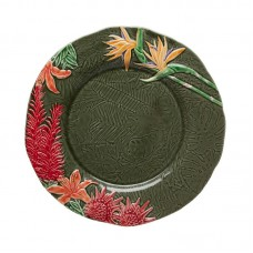 CHARGER PLATE - 34,5 CM, FLOWERS