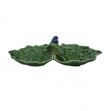 DOUBLE LEAF WITH BLUE BIRD 34