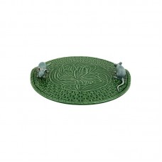 CHEESE TRAY, GREEN - LITTLE MICE