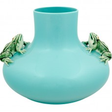 LARGE VASE TWO FROGS
