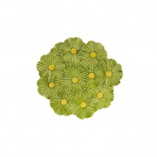 SERVING/DECORATIVE PLATE - COSMOS, GREEN