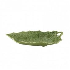 PLATTER 41 CM, GREEN - CINEREIRA LEAF
