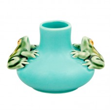 SMALL VASE TWO FROGS