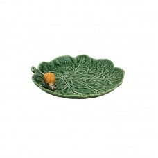 PLATE WITH A LITTLE SNAIL, CABBAGE