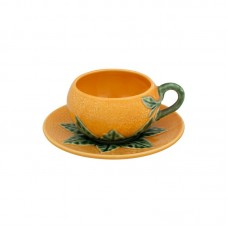 TEA CUP AND SAUCER FROM ORANGE COLLECTION