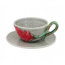 TEA CUP AND SAUCER, ALPINIA
