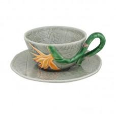 TEA CUP AND SAUCER, STRELITZIA