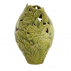 VASE OF PLATANUM LEAVES, GREEN